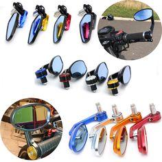 "Universal Motorcycle Mirror View Side Rear Mirror 7/8"" 22mm Handle bar For KTM RC8 RC8R RC125 125 Duke 990 SMR/SMT Super Duke #Affiliate"