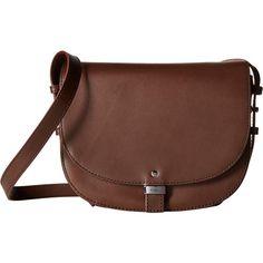 ECCO Glady Small Saddle Bag (Mink) Cross Body Handbags featuring polyvore, women's fashion, bags, handbags, shoulder bags, brown, shoulder strap bag, saddle bags, brown crossbody purse, hand bags and purse shoulder bag