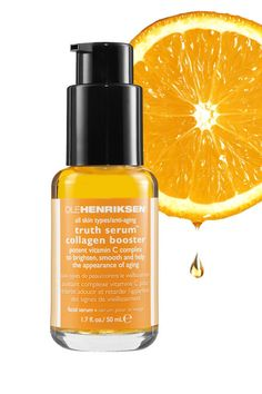 Top derms love to recommend vitamin C thanks to it's effectiveness at brightening, stimulating collagen, and repairing sun damage. In this serum—which should be applied between cleanser and moisturizer—the vitamin C is extracted from multiple sources such as orange, grapefruit, and rosehip, to intensify the benefits. Green tea adds more antioxidant protection while sodium hyaluronate hydrates.  Ole Henriksen Truth Serum® Vitamin C Collagen Booster, $48, sephora.com