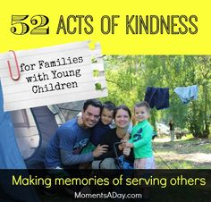 52 Acts of Kindness for Families with Young Children