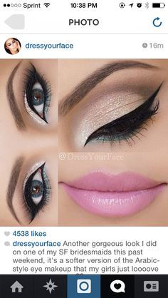 Makeup eyes eyeliner lips lipstick pink