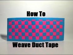 How to Make a Woven Duct Tape Wallet!! - http://www.ducktapesale.com/how-to-make-a-woven-duct-tape-wallet/