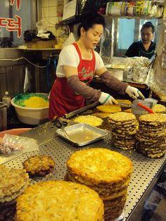 Gwangjang Market: tons of 'street food', textiles, produce