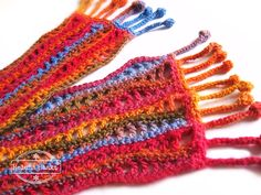 Autumn scarf by Helena Haakt (herfstsjaal haken). Free pattern