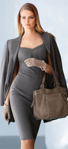 Fashionable work outfits for women  : I'll stop wearing black when they make a darker color.