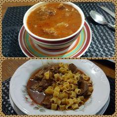 sopa de cebola com carne e gengibre