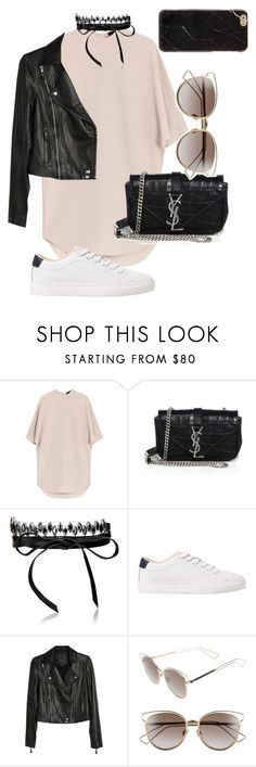 """Untitled #9"" by franciscanunes ❤ liked on Polyvore featuring Alexander Wang, Yves Saint Laurent, Fallon, MANGO, Paige Denim and Christian Dior"