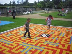 Maybe a BIG maze for your feet? lots of options, race to see who will win!