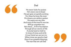 """Father's Day Poems That'll Make You and Your Dad Tear Up"""" """"Thank you, Dad Dietrich. I fondly remember your firm yet gentle guidance. I hope you and Dad get along now, especially with Stephen there. Funny Fathers Day Poems, Daddy Poems, Happy Father Day Quotes, Birthday Poems For Dad, Bday Wishes For Dad, Fathers Day Captions, Dad Birthday Quotes From Daughter, Daddy Birthday, Girlfriend Birthday"""