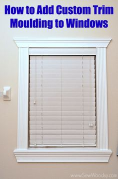 how to add custom trim moulding to windows diy how to wall decor windows woodworking projects Home Renovation, Home Remodeling, Basement Renovations, Interior Window Trim, Craftsman Window Trim, Craftsman Style, Window Casing, Window Moulding, Molding Around Windows