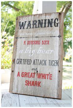 """Warning"", via www.oniongrovemercantile.com"