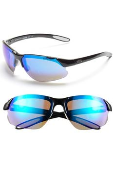 6a2126c36ec SMITH  PARALLEL D MAX  65MM POLARIZED SUNGLASSES - BLACK WHITE  BLUE   CLEAR.  smith