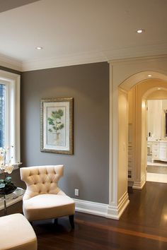 "Gray Paint Color Ideas. Similar Gray Paint Color: ""Benjamin Moore Storm AF-700"" #GrayPaintColor"