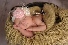 Vintage Baby headband newborn headband pink by BambaroosBoutique, $24.50