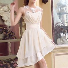 Buy 'MSSBridal � Sleeveless Asymmetric Hem A-Line Cocktail Dress' with Free International Shipping at YesStyle.com. Browse and shop for thousands of Asian fashion items from China and more!