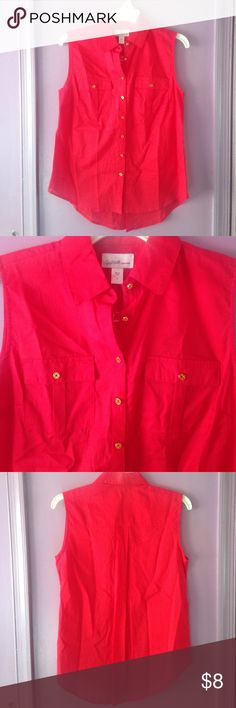 Red Blouse Brand new with tags! Jaclyn Smith Tops Button Down Shirts