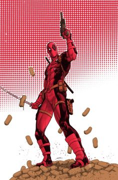 #Deadpool #Fan #Art. (Chimichangas time on my new convention banner!) By: Pereperezart. (THE * 5 * STÅR * ÅWARD * OF * MAJOR ÅWESOMENESS!!!™) [THANK U 4 PINNING!!!<·><]<©>ÅÅÅ+(OB4E)
