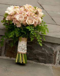 blush champagne colored wedding bouquet http://sophisticatedfloral.com/