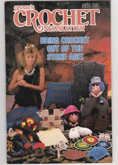 Annie's Crochet Newsletter Sept-Oct 1986 No 23 - Lots of Vintage Crochet Patterns -Stone Age