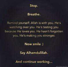 Stop. Breathe.