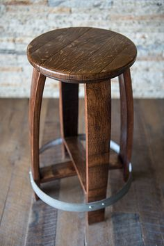 A Barrel Top Stool. A classic Alpine Wine Design piece!