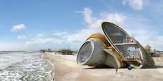Artist Designs Surreal Futuristic Forts That Can Withstand Natural Disaster