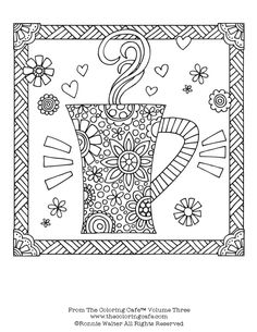 Coffee Cup for coloring page