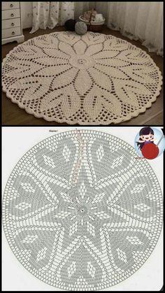 Crochet Circle Pattern, Crochet Circles, Crochet Doily Patterns, Crochet Diagram, Filet Crochet, Crochet Doilies, Crochet Cable Stitch, Cable Knitting, Thread Crochet