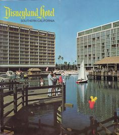 Front cover - folded fully open  The Disneyland Hotel today looks nothing at all like this mid 1970's brochure. A major renovation currently underway will change it's look even more.