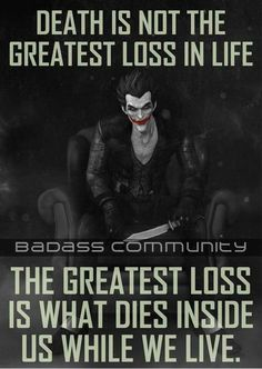 Sad truth citations jokers, joker and harley quinn, the joker, life death quotes True Quotes, Great Quotes, Quotes To Live By, Motivational Quotes, Inspirational Quotes, Best Joker Quotes, Badass Quotes, School Looks, Joker And Harley Quinn