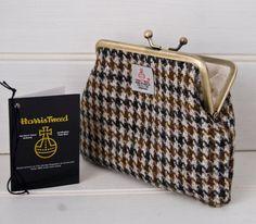Brown Purse Harris Tweed Houndstooth Make Up Bag by GreenCallow, £22.00
