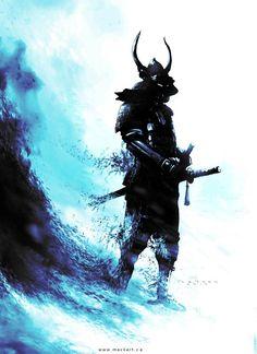 Apocalyptic Winter Samurai by Mack Sztaba Ronin Samurai, Samurai Warrior, Samurai Tattoo, Style Badass, Japanese Drawing, Arte Ninja, Samurai Artwork, Sword Tattoo, Japanese Warrior