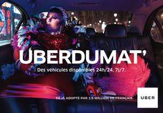 Une jolie #campagne de #pub pour @Uberfrance et @marcelagency :) #advertizing #publicité #imagination
