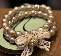 Fine Jewelery 7 Beaded Braclets, Beaded Rings, Gemstone Bracelets, Bangle Bracelets, Beaded Jewelry, Bracelet Crafts, Jewelry Crafts, Jewelry Art, Ribbon Jewelry