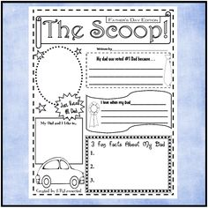 father's day newspaper template | Father's Day Freebie!#elemchat #spedchat I recently created a fun ...