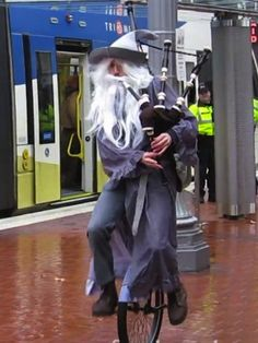 That same guy unicycled down the street in a flood dressed as Gandalf: | The 30 Most Portland Things That Have Ever Happened In Portland