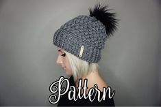 373ba0584ae CROCHET PATTERN Fitted Puff Stitch Beanie pdf File