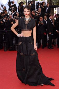 Kendall Jenner wears Azzedine Alaia at Cannes 2015