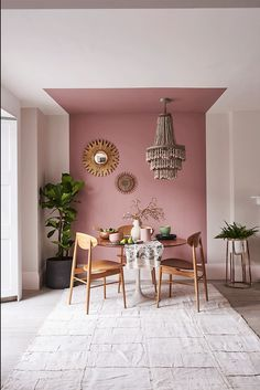 Room Inspiration, Interior Inspiration, Monday Inspiration, Colour Inspiration, Furniture Inspiration, Pink Ceiling, Colored Ceiling, Ceiling Decor, Ceiling Paint Design