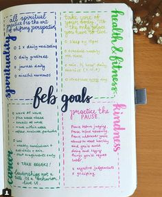 Do you bullet journal? Check out these awesome bullet journal pages to use if you want to use your bullet journal for tracking goals! Bullet Journal Spread, Bullet Journal Ideas Pages, Bullet Journal Layout, Bullet Journal Inspiration, Journal Pages, Bullet Journals, Vision Journal Ideas, Journal Ideas For Teens, Bullet Journal Health