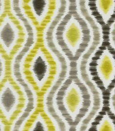 Home Decor 8''x 8'' Fabric Swatch  Print Fabric-Waverly Optical Delights Wasabi