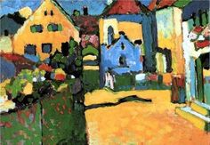 Houses in Murnau, 1909 / Kandinsky