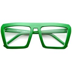 aa31b009bca1 zeroUV Fashion Frame Flat Top Blaster Frame Horn Rimmed Style Eyewear Clear  Lens Glasses Green