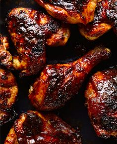 Barbecued Chicken - Avoid rookie mistakes when it comes to barbecuing. If you apply the sauce too early, it will scorch. And most sauces are too sweet, which is where this vinegary version comes in.