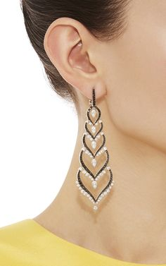 Black And White Diamonds Russia Earrings by Stephen Webster for Preorder on Moda Operandi