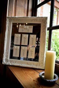 Shabby chic wedding table Seating Plans - Seating plans