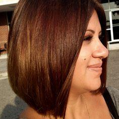 Chocolate / brown / bob / lob / long bob /  brunette / short / straight / haircut / brunette / hair