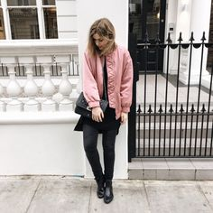Outfit: The pink Bomberjacket