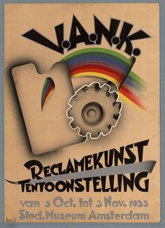 Titel:Reclamekunst tentoonstelling Maker: designer:   Habold, Jaap Trefwoord: Nederlandsche vereeniging voor ambachts- en nijverheidskunst Tentoonstellingen Periode onderwerp:1935 - 1935