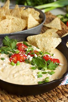 The Very Best White Queso Dip recipe that's absolutely fool-proof! So easy to make with whole ingredients, not a shred of processed cheese product to be found! Creamy, rich and completely addictive. | @suburbansoapbox